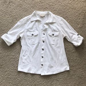 White Cotton button down shirt from Style & Co.